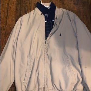 polo zip up bomber jacket